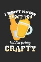 I'm feeling crafty: 6x9 Craft beer - grid - squared paper - notebook - notes