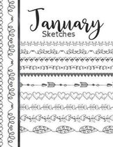 January Sketches: Astrology Sketchbook Activity Book Gift For Women & Girls - Daily Sketchpad To Draw And Sketch In As The Stars And Pla