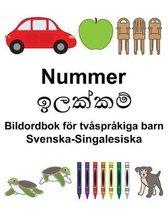 Svenska-Singalesiska Nummer/ඉලක්කම් Bildordbok foer tvasprakiga barn