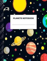 Planets Notebook: Boys' and Girls Fun Lined Notebook for Grades K-2-3-4