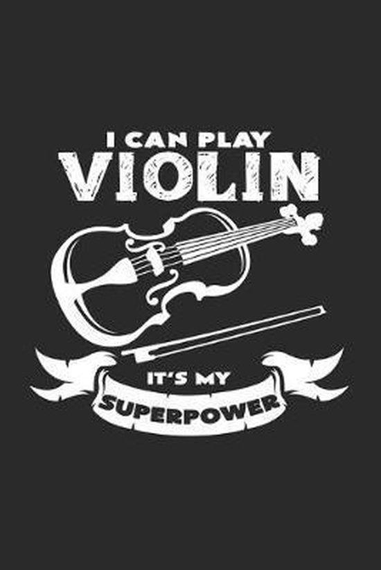 Violin superpower: 6x9 Violin - dotgrid - dot grid paper - notebook - notes