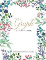 Graph Paper Notebook: Flower Cover - 1/2 inch Square Grid Graph Paper Pages and White Paper - Graphing Paper 8.5 x 11 Inch