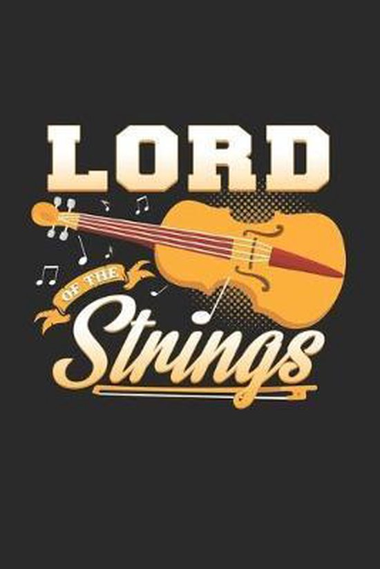 Lord of the strings: 6x9 Violin - dotgrid - dot grid paper - notebook - notes