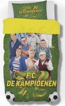 FC de Kampioenen dekbedovertrek in satijn polyester 140 cm x 200 cm met kussensloop 65 cm x 65 cm.