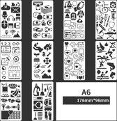 Bullet Journal Plastic Stencils - 10 stuks - Templates - Sjablonen - 10 x 18 centimeter - Handlettering toolkit - Knutselen - Decoratie - Accessoires