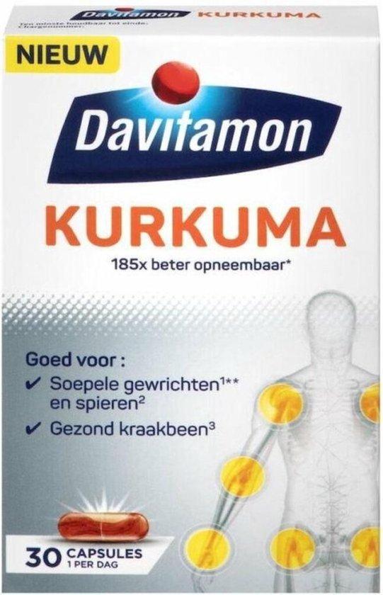 Davitamon Kurkuma - Kurkuma met vitamine C en vitamine D -  Voedingssupplement  - 30 kurkuma capsules