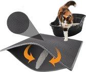 Kattenbakmat – Grit Opvanger – Schoonloopmat – Katten Mat – Matje Voor Kattenbak – 40X50CM - Zwart