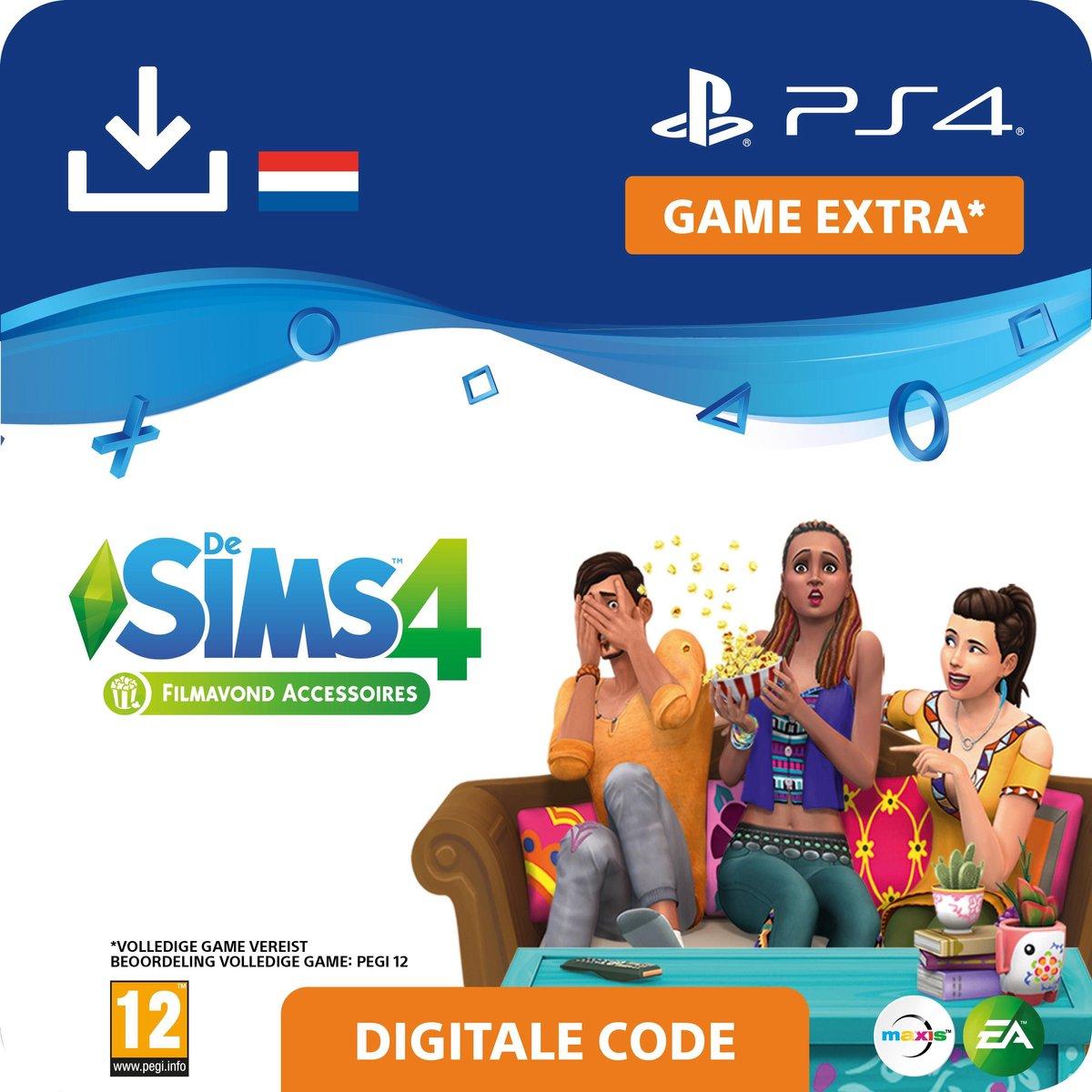 De Sims 4 - uitbreidingsset - Filmavond Accessoires - NL - PS4 download