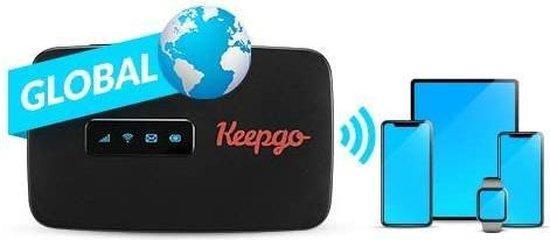 Keepgo mifi router + 4G LTE wereld simkaart (inclusief 1GB - 365 dagen geldig)