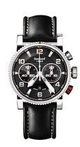 Hanhart PRIMUS Racer Horloge Zwart, zwarte rubberband