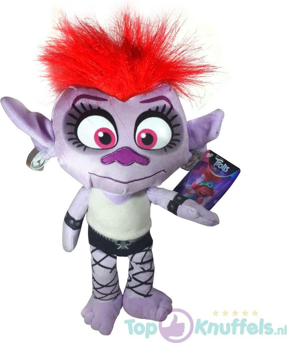 Queen Barb Trolls Pluche Knuffel 32 cm | Trolls Wereldtour | Trolls World tour | Trols Plush | Poppy & Friends