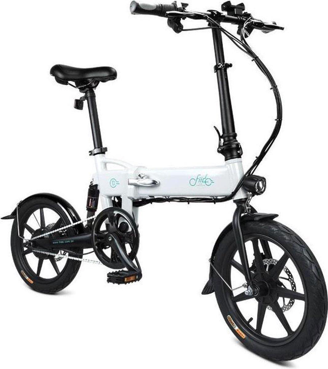 Fiido D2 Elektrische Vouwfiets - Wit - 16 inch wielen