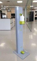Maxi Clean - Desinfectie zuil met pedaal - Metaal - Contactloos met voetbediening