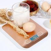 Keukenweegschaal - Digitale Precisie - RVS - Tare functie - Rose - Incl. batterijen  - 2e generatie