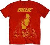 Billie Eilish Heren Tshirt Racer Logo Jumbo Rood