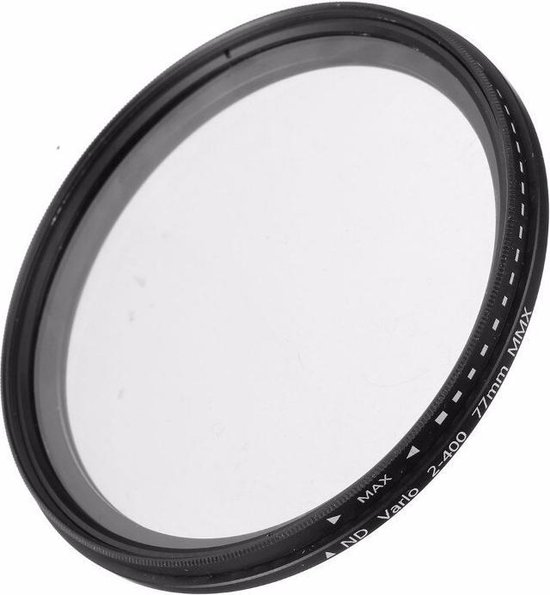 Cuely 77mm variabele ND fader ND2-ND400 filter grijsfilter