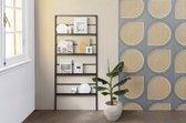 LIFA LIVING Tijdschriftenrek - Magazinerek - Zwart - Metaal - 171 x 75 cm