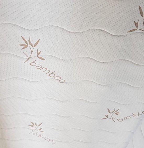 Matrashoes - Bamboo Tijk - Bamboo - Matrastijk - Bamboe -Anti Allergie - 90x200 met rits - 18 tot 20cm hoek hoogte