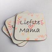 Onderzetters   Liefste Mama   Moederdag   Verjaardag   Thee , Koffie , Warme Chocomel onderzetters   MDF hout