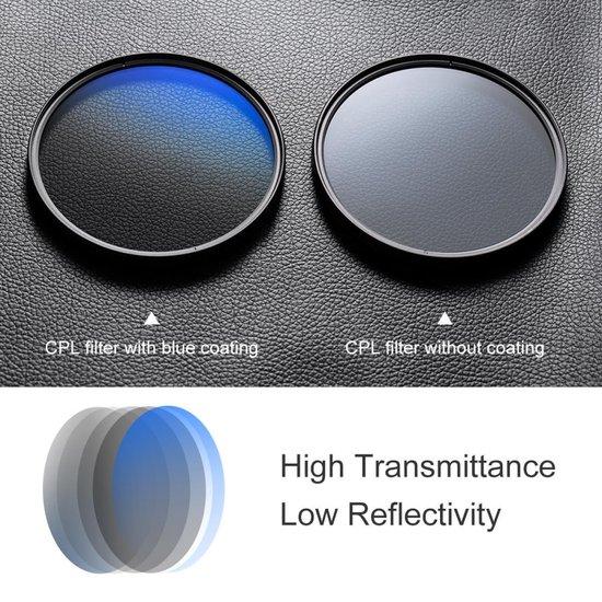 K&F Concept 58mm CPL circulair polarisatiefilter MC slim