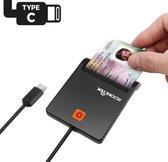 eID Kaartlezer Identiteitskaart USB C - Kaartlezer Identiteitskaart - Simkaart - Kaartlezer - Card Reader - België - Mac & Windows - USB C