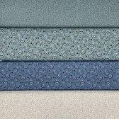 Katoen stof 100%  katoen   Qju Tie Kids collectie Poplin katoen 4 x 0,50 cm  150 cm breed