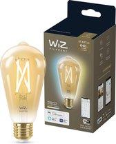 WiZ Edison Filament - Slimme LED-Verlichting - Warm- tot Koelwit Licht - E27 - 50 W - Goud - Wi-Fi