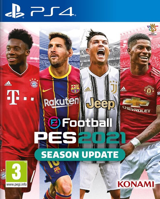 Cover van de game eFootball PES 2021 Season Update - PS4