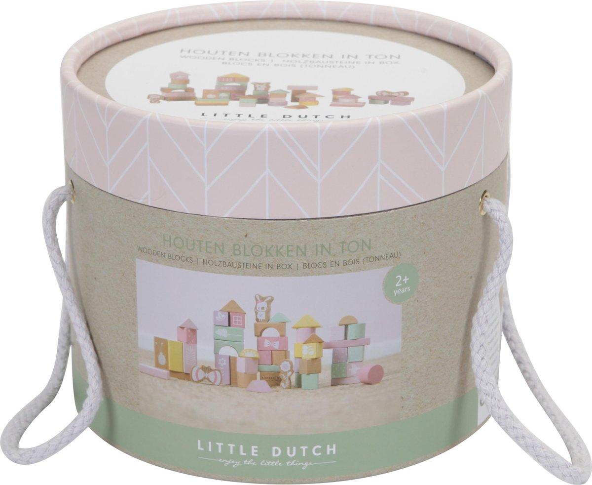 Little Dutch Houten Blokkenton Adventure pink - Little Dutch