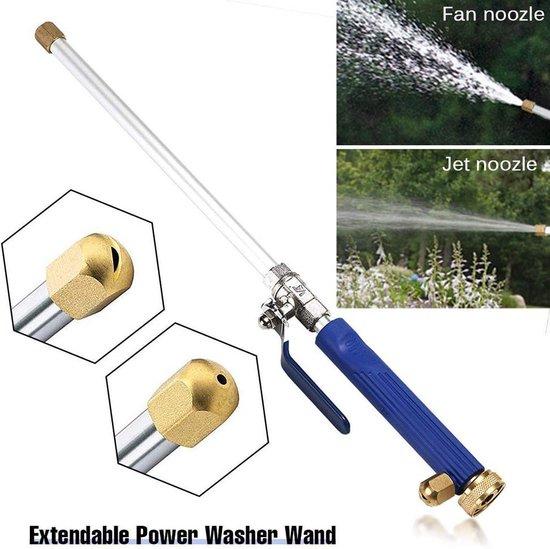 Hogedruk spuitpistool aansluiting op tuinslang-Hogedruk waterpistool, uitschuifbare bevestiging voor tuinsproeier- auto wassen- terras/tuin reiniger