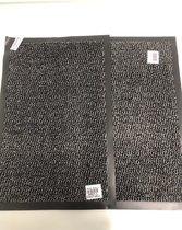 2 stuks - deurmat - zwart - 40x60cm
