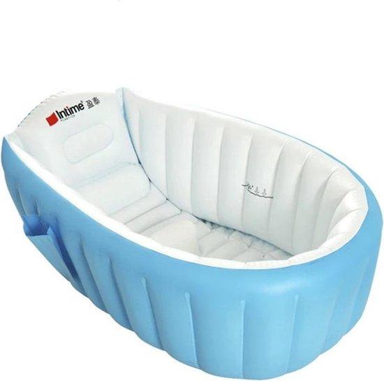 Product: Babybad Opblaasbaar - Opblaasbaar Badje - Kind Bad - Badkuip - Kinderbadje - Opvouwbaar babybad - Inclusief luchtpomp, van het merk Merkloos