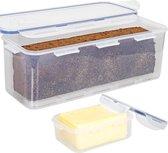 Lock&Lock Vershouddoos   Bewaardoos -  Voor Ontbijtkoek, Cake en Boter - Set van 2 - 350 ml + 3,4 liter