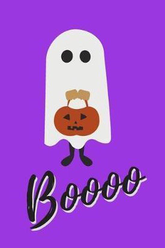 Boooo: Cute & Funny Ghost Notebook Ideal Halloween Gift