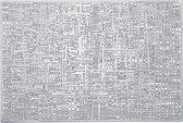 8x Rechthoekige placemats glanzend zilver 30 x 45 cm - Zeller - Keukenbenodigdheden - Tafeldecoratie - Borden onderzetters van kunststof
