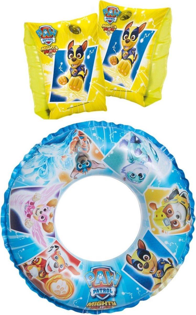Opblaasbare Disney Paw Patrol set zwemband/zwemring en zwembandjes/zwemmouwtjes 3-6 jaar - Zwembad speelgoed - Zwembenodigdheden - Paw Patrol zwembanden/zwemringen voor kinderen