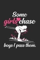 Some girls chase boys I pass them: 6x9 Cross Country Skiing - dotgrid - dot grid paper - notebook - notes