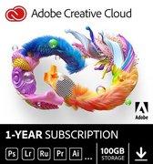 Adobe Creative Cloud Individual - 100GB Cloudopslag - 12 maanden/1 apparaat - Nederlands/Frans - PC/MAC
