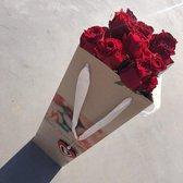 Luxe rozen box | 10 stuks rode rozen | Valentijnsdag | Valentijns cadeau | BloomitUp