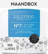 LILLYDOO luiers - Maat 7 (15+ kg) - 105 Stuks - Maandbox