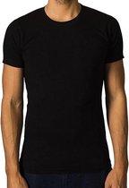 2 x T-shirt Basic - Biologisch katoen - zwart - O - hals