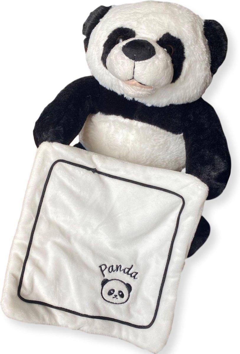 Questmate® - Kiekeboe Panda Beer Nederlandstalig - Interactieve Pratende Knuffel