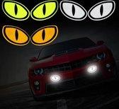 Auto Reflecterende Sticker , Waarschuwing Tape, Reflecterende Strips, Veiligheid Mark, Deur en bumper Sticker - set van 2 - wit