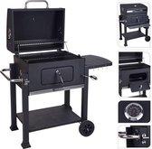 Bbq Houtskoolbarbecue Zwart Metaal 118 X 69 X 108 Cm
