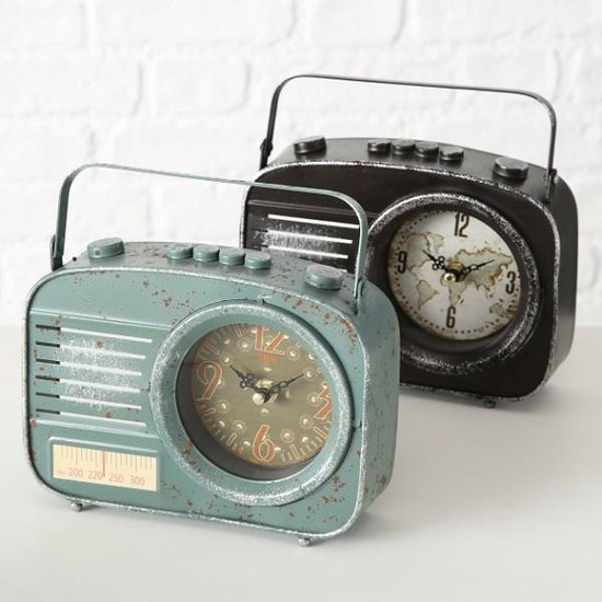 Klok radio model zwart
