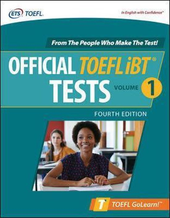 Boek cover Official TOEFL iBT Tests Volume 1, Fourth Edition van Educational Testing Service (Paperback)