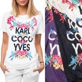 Merkloos / Sans marque T-shirt Ronde hals Dames T-shirt Maat M/L