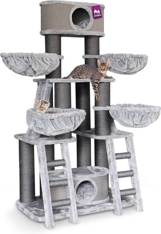 Petrebels Skyline 185 krabpaal voor grote katten - Grijs - 185 cm