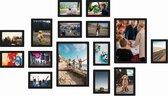 Magnetische fotolijst - Fotomuur - Zwart - 15 stuks