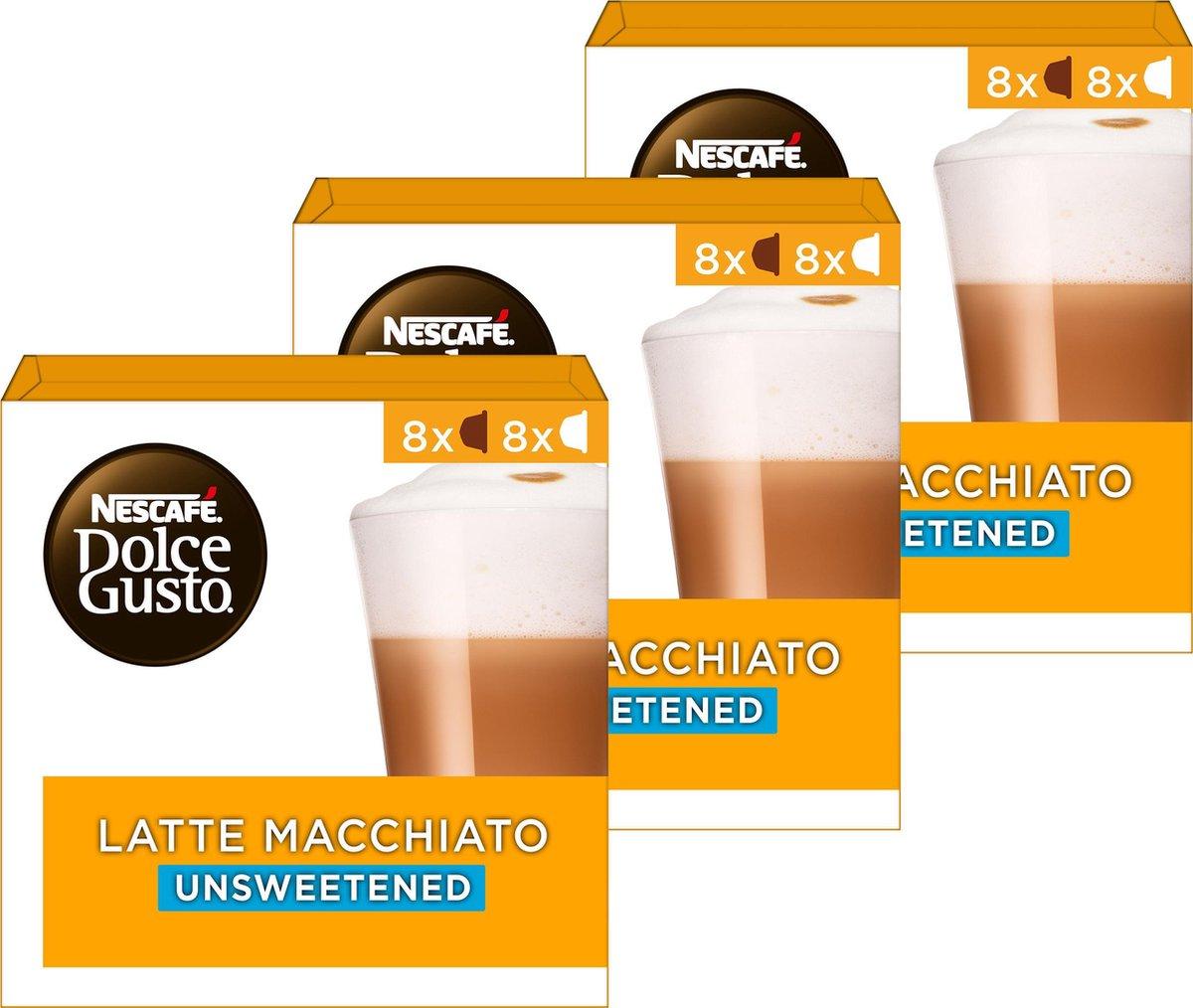 Nescafé Dolce Gusto capsules Latte Macchiato ongezoet - 48 koffiecups - geschikt voor 24 koppen koff